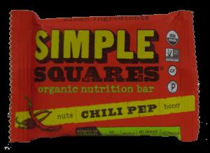 Simple Squares Organic Nutrition Bar Chili Pep