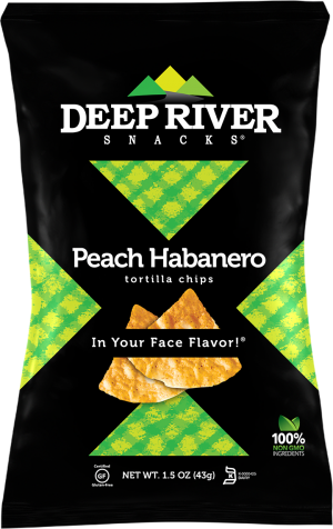 Deep River Snacks Tortilla Chips Peach Habanero