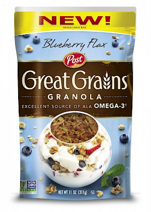 Post Great Grains Granola Blueberry Flax