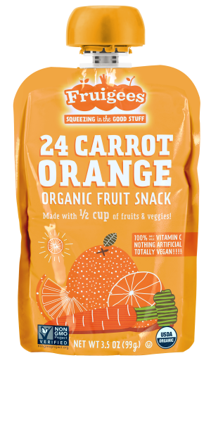 Fruigees 24 Carrot Orange Organic Fruit Snack