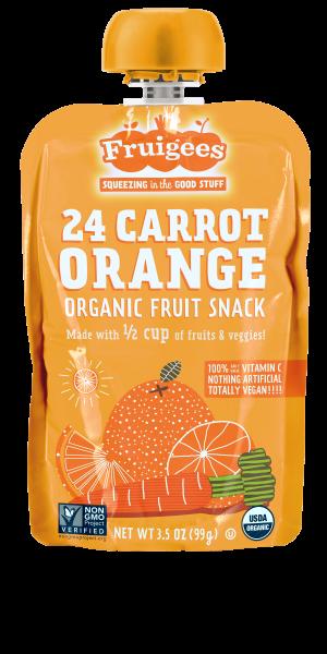 Fruigees 24 Carrot Orange Organic Fruit Snack