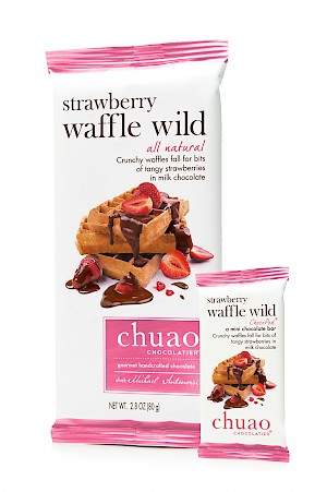 Chuao Chocolatier Handcrafted Chocolate Strawberry Waffle Wild