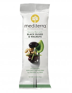 Mediterra Savory Nutrition Bar Black Olives & Walnuts