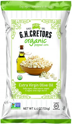 G.H. Cretors Organic Popped Corn Extra Virgin Olive Oil