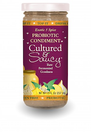 Cultured & Saucy Probiotic Condiment Exotic 5 Spice