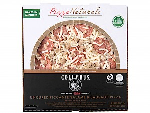 Columbus Foods Pizza Naturale Uncured Piccante Salame & Sausage