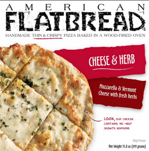 American Flatbread Thin & Crispy Pizza Cheese & Herb
