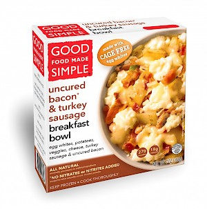 Good Food Made Simple Breakfast Bowl Egg Whites, Uncured Bacon & Turkey Sausage