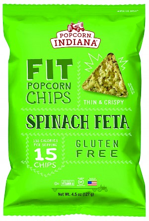Popcorn, Indiana FIT Popcorn Chips Spinach Feta is a HIT.