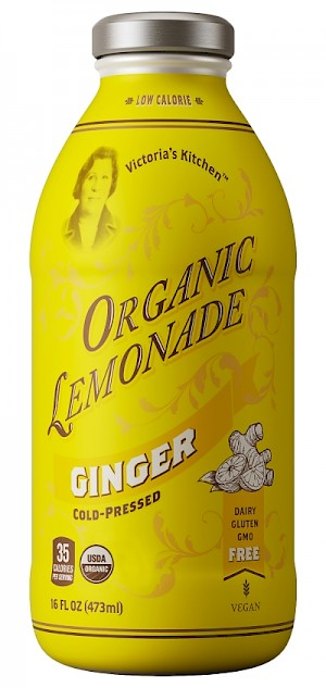 Victoria's Kitchen Organic Ginger Lemonade Cold-Pressed Ginger