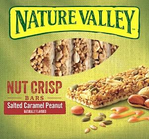 Nature Valley Nut Crisp Bars Salted Caramel Peanut