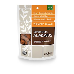 Navitas Naturals Superfood+ Almonds Turmeric Tamari