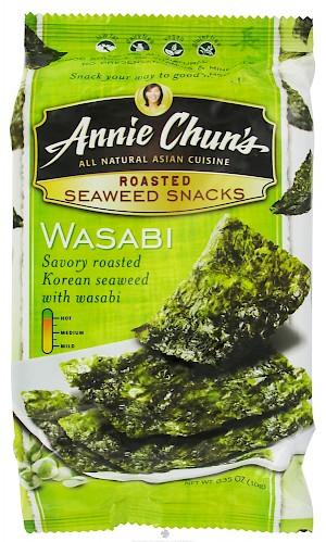 Annie Chun's Roasted Seaweed Snack Wasabi