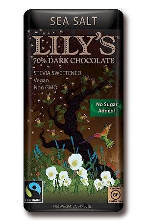 Lily's Sweets 70% Dark Chocolate Bar Sea Salt