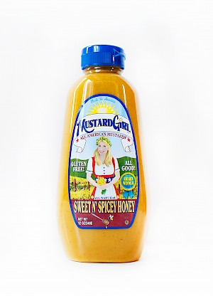 Mustard Girl All American Mustards Sweet N' Spicey Honey