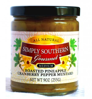 Simply Southern Gourmet Roasted Pineapple Cranberry Pepper Mustard