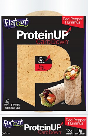 Flatout Flatbread ProteinUP, CarbDown Red Pepper Hummus is a HIT