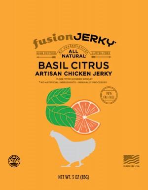 Fusion Jerky Basil Citrus Artisan Chicken Jerky
