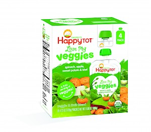 Happy Family Love My Veggies spinach, apple, sweet potato & kiwi