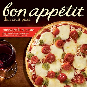 Bon Appetit Thin Crust Pizza Mozzarella & Pesto
