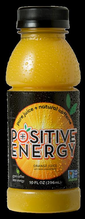 Positive Energy Pure Juice + Natural Caffeine Orange