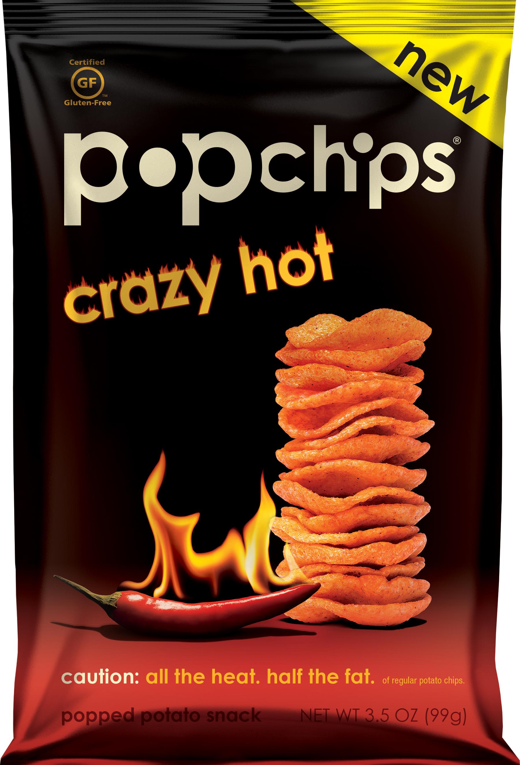 popchips Popped Potato Snack Crazy Hot