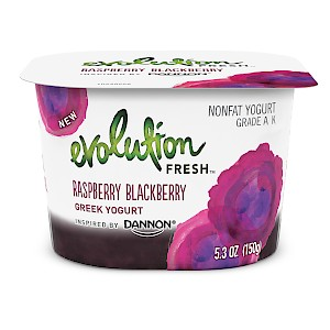 Evolution Fresh Fruit on the Bottom Greek Yogurts Raspberry Blackberry