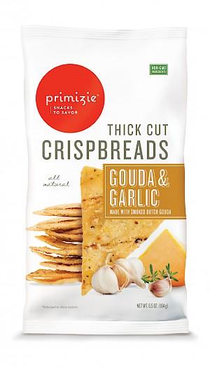 Primizie Crispbreads Smoked Dutch Gouda & Garlic