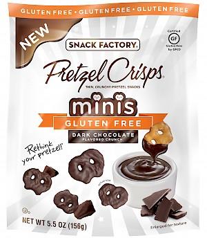 Snack Factory Pretzel Crisps Gluten Free Minis Dark Chocolate Flavored Crunch