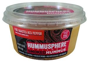 Hummusphere Foods Applewood Smoked Hummus Fire Roasted Red Pepper