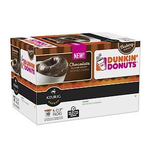 Dunkin' Donuts Bakery Series Chocolate Glazed Donut Coffee