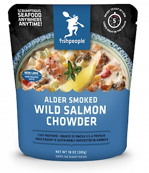 Fishpeople Chowder Alder Smoked Wild Salmon Chowder is a HIT
