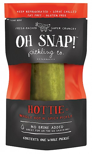 Oh Snap! Pickling Co. Hottie hot n' spicy dill pickle is a HIT