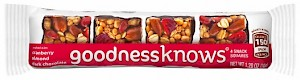 goodnessknows Snack Squares Cranberry, Almond, Dark Chocolate is a HIT