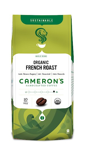 Cameron's Coffee Whole Bean Organic French Roast
