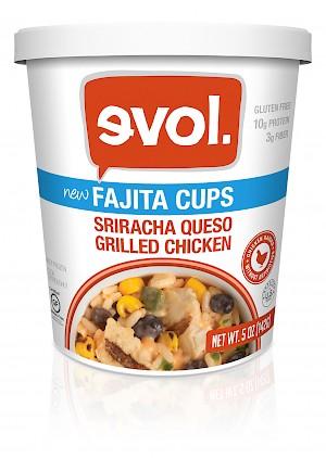 EVOL Fajita Cups Sriracha Queso Grilled Chicken is a HIT