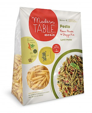 Modern Table Meals Bean Pasta + Veggie Kit Pesto is a HIT