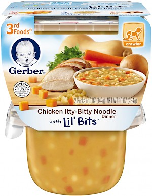 Gerber Chicken Itty-Bitty Noodle Dinner is a HIT.