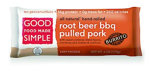 Good Food Made Simple Entree Burrito Rootbeer BBQ Pulled Pork is a HIT