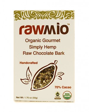 Rawmio Gourmet Raw Chocolate Bark Simply Hemp is a HIT!