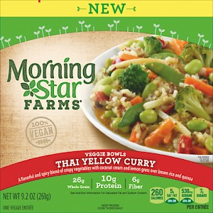 MorningStar Farms Veggie Bowls Thai Yellow Curry is a HIT.