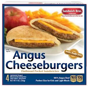 Sandwich Bros Flatbread Pocket Sandwiches Angus Cheeseburgers is a HIT