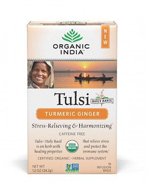 Organic India Tusli Tea Turmeric Ginger is a HIT!