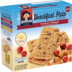 Quaker Oats Breakfast Flats Cranberry Almond is a HIT!