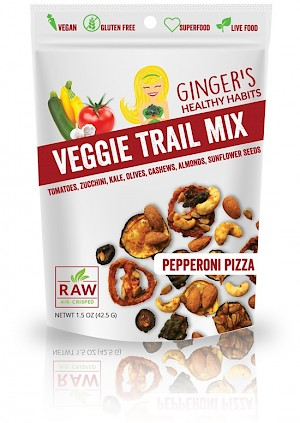 Ginger's Healthy Habits Pepperoni Pizza Veggie Trail Mix is a HIT!