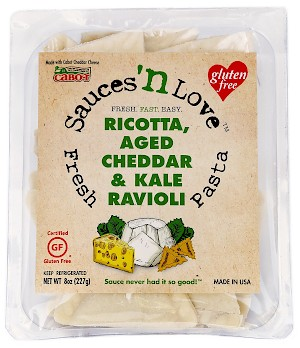 Sauces 'n Love Ricotta, Aged Cheddar, and Kale Gluten Free Ravioli is a HIT!