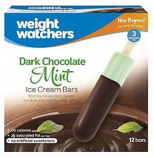 Weight Watchers® Ice Cream Bars Mint in Dark Chocolate Flavored Coating