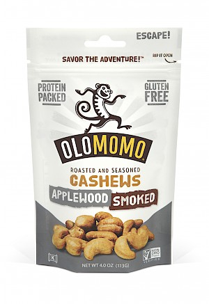 OLOMOMO Applewood Smoked Cashews is MY PICK OF THE WEEK!