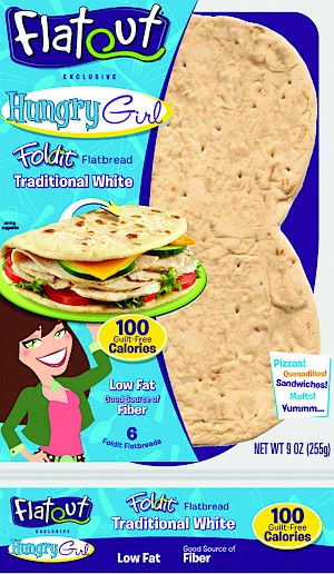 Flatout Hungry Girl Foldit Flatbread Traditional White is a HIT!