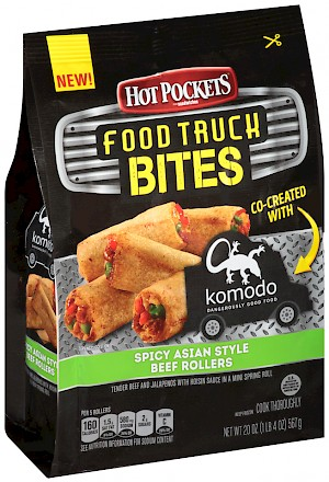HOT POCKETS Food Truck Bites Spicy Asian Style Beef Rollers is a HIT!